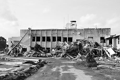 東日本大震災で被災した岩手県大槌町役場