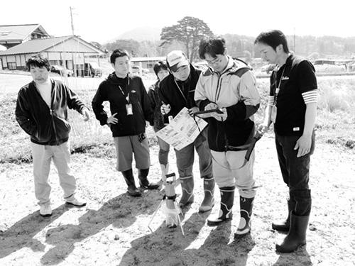 ▲2016年、福島県飯舘村での放射線計測