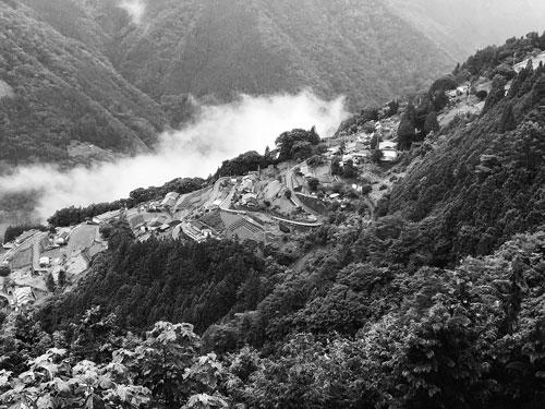 長野県旧下伊那郡上村(現飯田市上村)下栗の風景 2017年8月8日筆者撮影