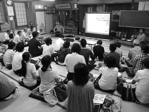 長野市松代で毎月1回開く「NAGANO農と食の会」定例会(筆者撮影)