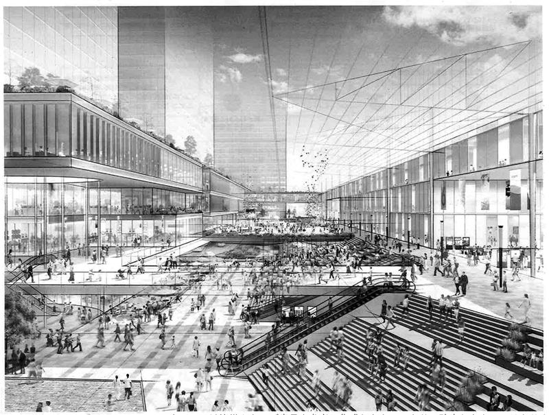 図 「大宮駅グランドセントラルステーション」構想実現案<br>出典:「(仮称)GCSプラン骨子案のパブリック・コメントを実施します」