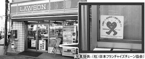 ▶写真3 災害時帰宅支援ステーションのステッカー。(関西広域連合のウェブサイトから転載)